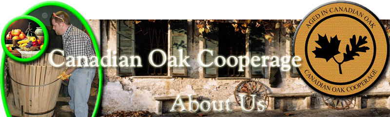 Canadian Oak Cooperage making wine barrels